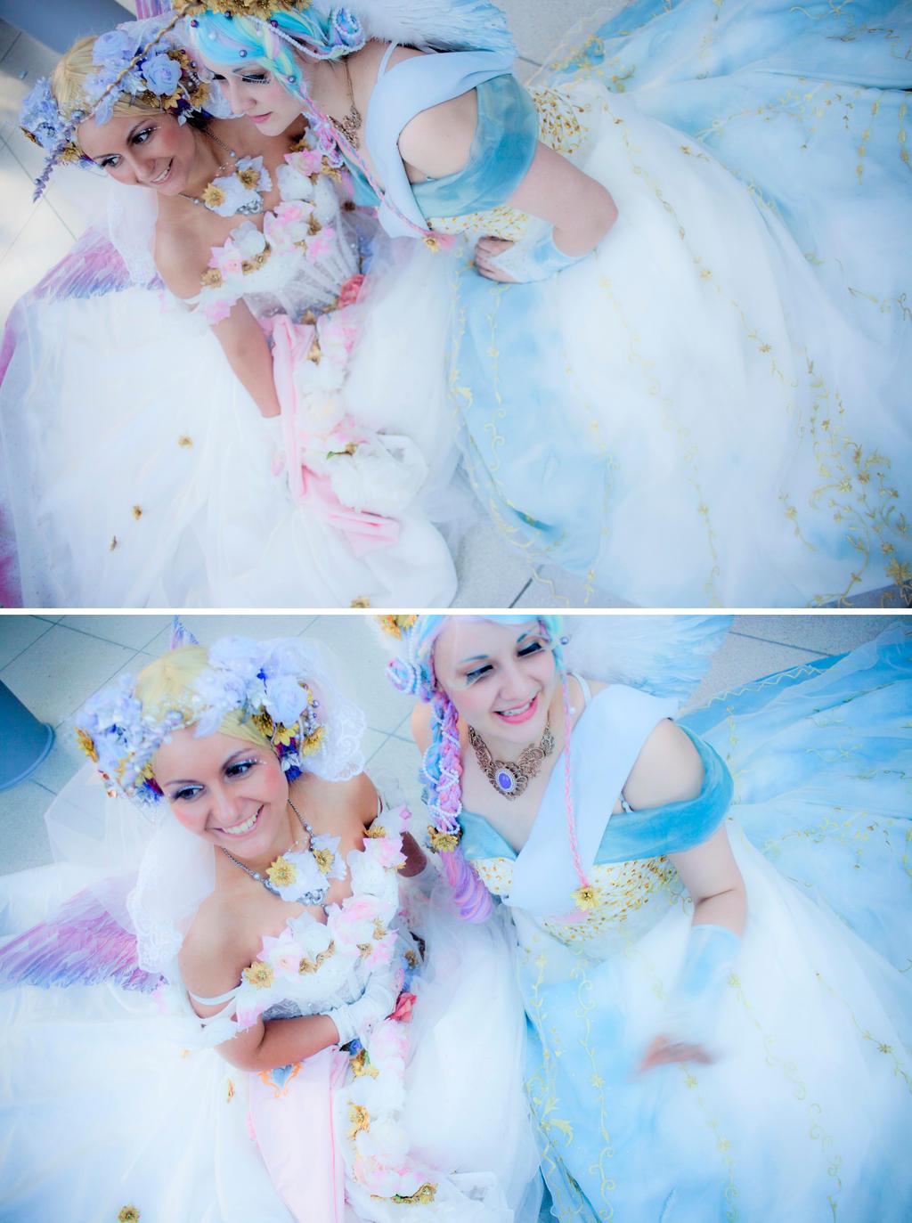 MLP: Princess Celestia and Princess Cadence 2 by Amapolchen