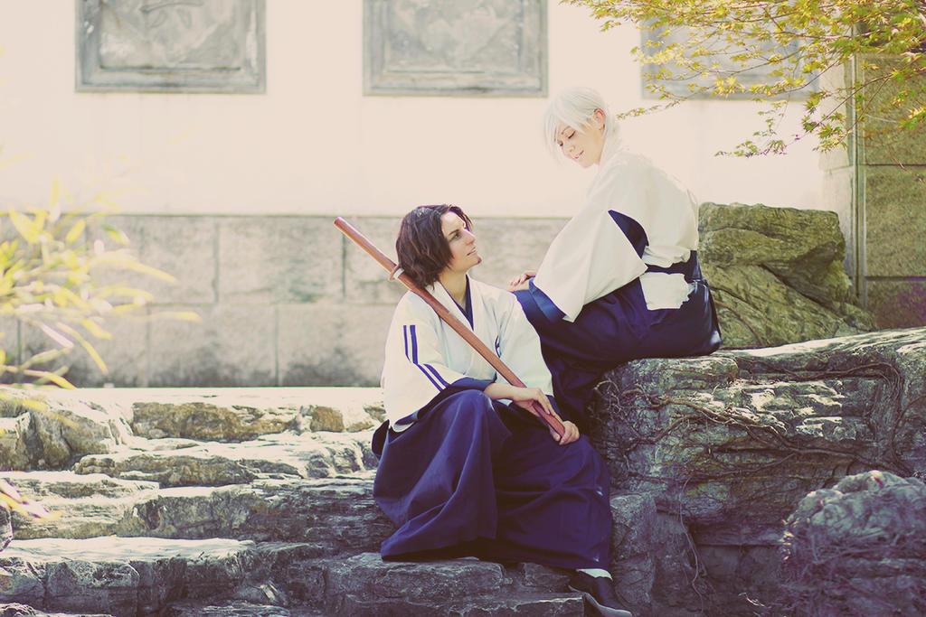 Bleach Ukitake + Shunsui by Amapolchen