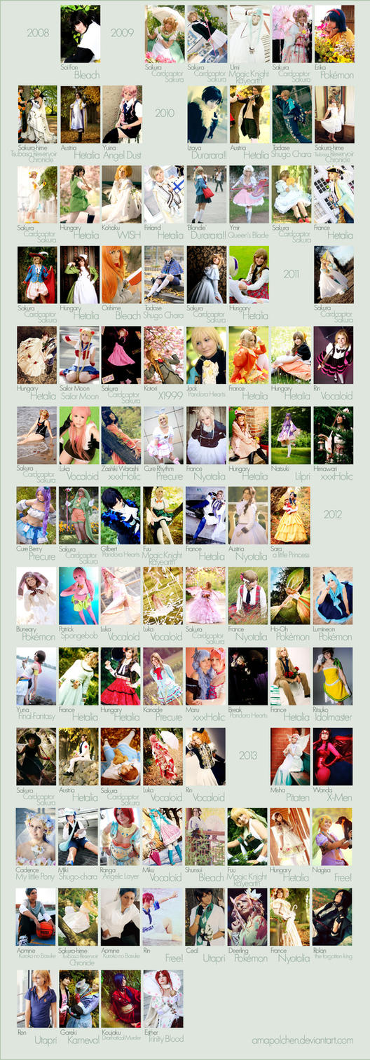 my cosplays (2008-2013) by Amapolchen