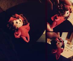 Marvel: handmade Scarlet Witch keychain by Amapolchen