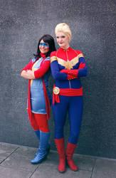 Ms. Marvel + Captain Marvel by Amapolchen