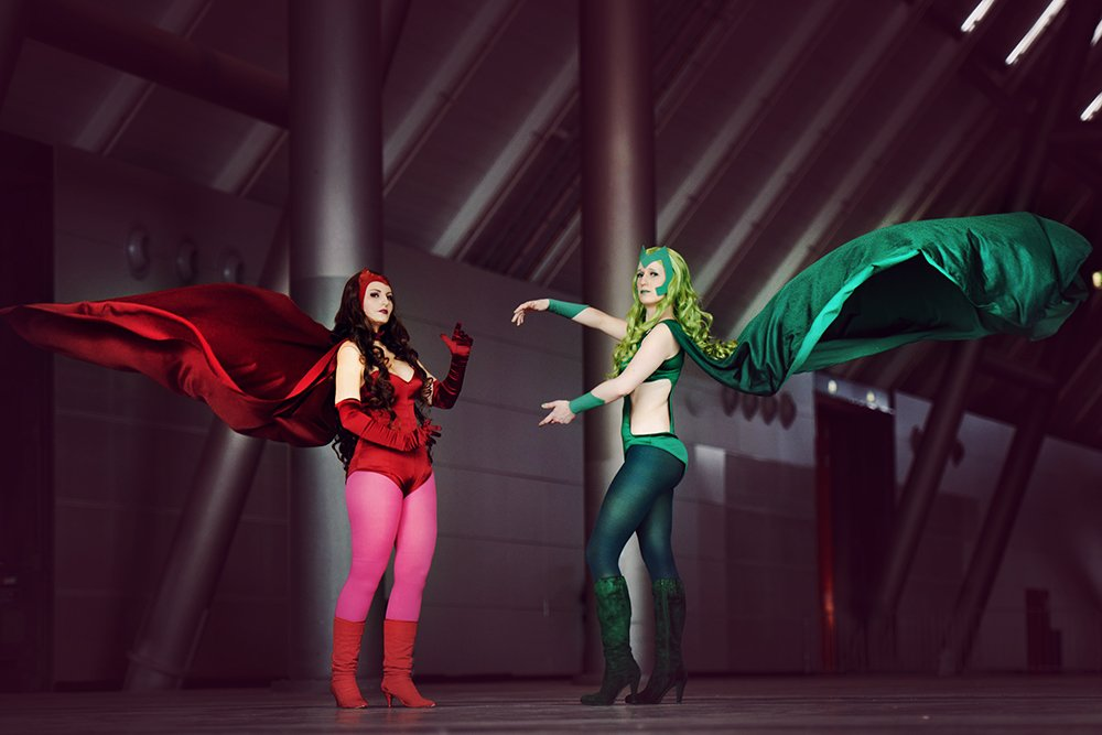 Marvel: Scarlet Witch and Polaris by Amapolchen