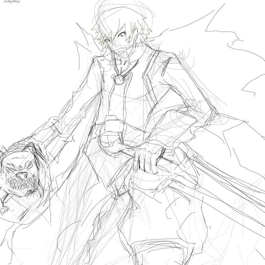 dragon nest swordsmaster sketch by unonyan