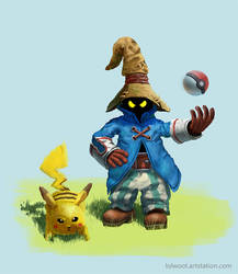 Vivi and pikachu by Lolwoot1337