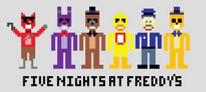 8-bit Five Nights At Freddy's by Nightfire-613