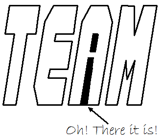 No 'I'  in team by lensman1955