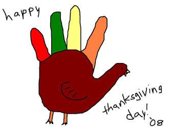 Hand Turkey by Sugarcoatidli3z