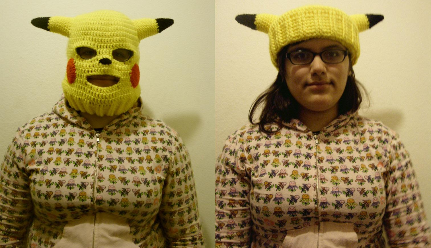 Pikachu convertible ski mask by Sugarcoatidli3z