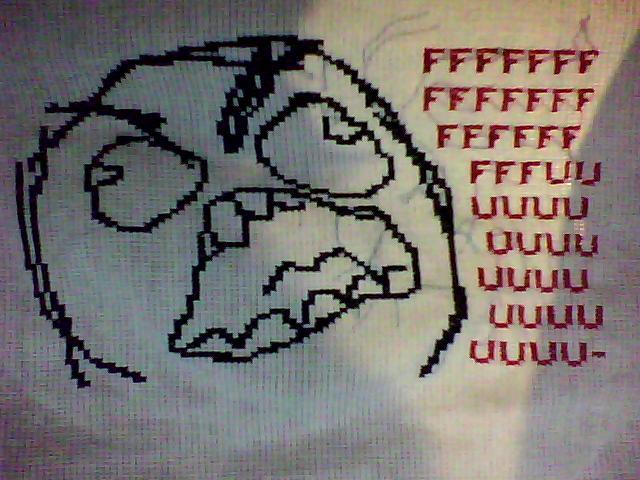 cross stitch rage by Sugarcoatidli3z