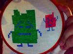 mooninites cross stitch