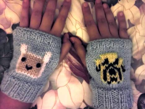 Finn and Jake Fingerless gloves