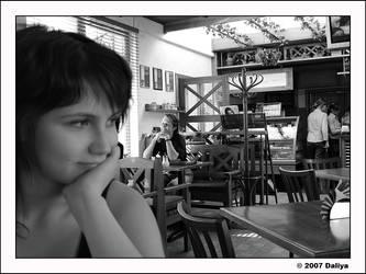In a summer cafe by daliyak
