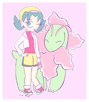 Pokemon Crystal: Kris and Meganium by Mewzical-Aria