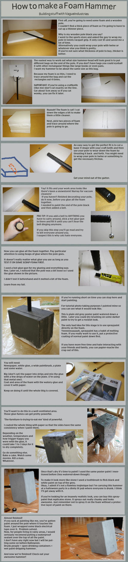 Foam Hammer Tutorial by VagueIndustries