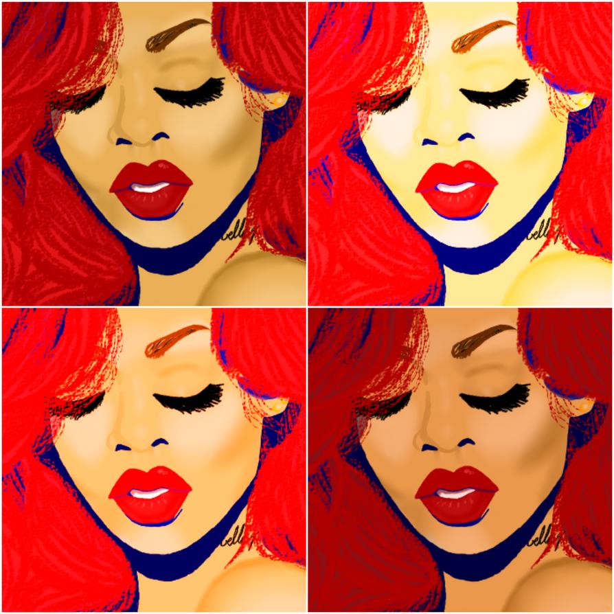 rihrih collage by Mitchie98