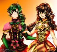 Valeyla's original characters colored