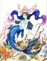 Brizo: Greek Goddess of the Sea (Unfinished) by Rozen-Guarde