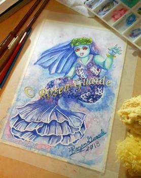 Fanart Friday_Mario Odyssey Lochlady Mermaid