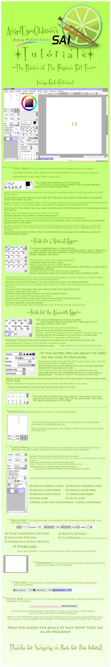 Basics of Paint Tool Sai Pt 2 by Neko-CosmicKitty