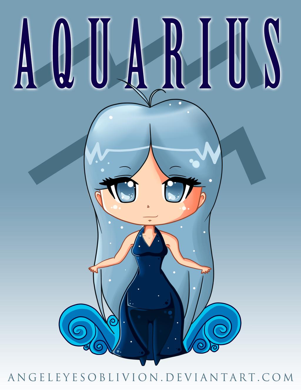 Zodiac Chibi: Aquarius by Neko-CosmicKitty on DeviantArt  Anime Aquarius