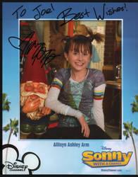 Allisyn Ashley Arms autograph by BadBreathVampire