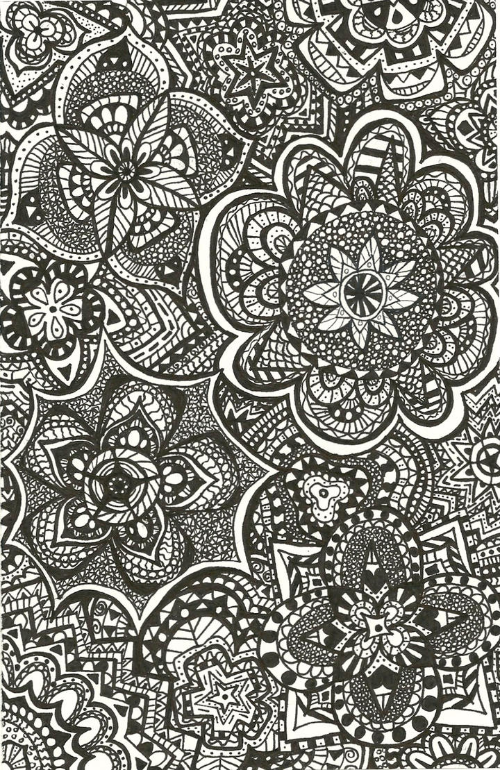 dongetrabi black and white flowers drawings tumblr images