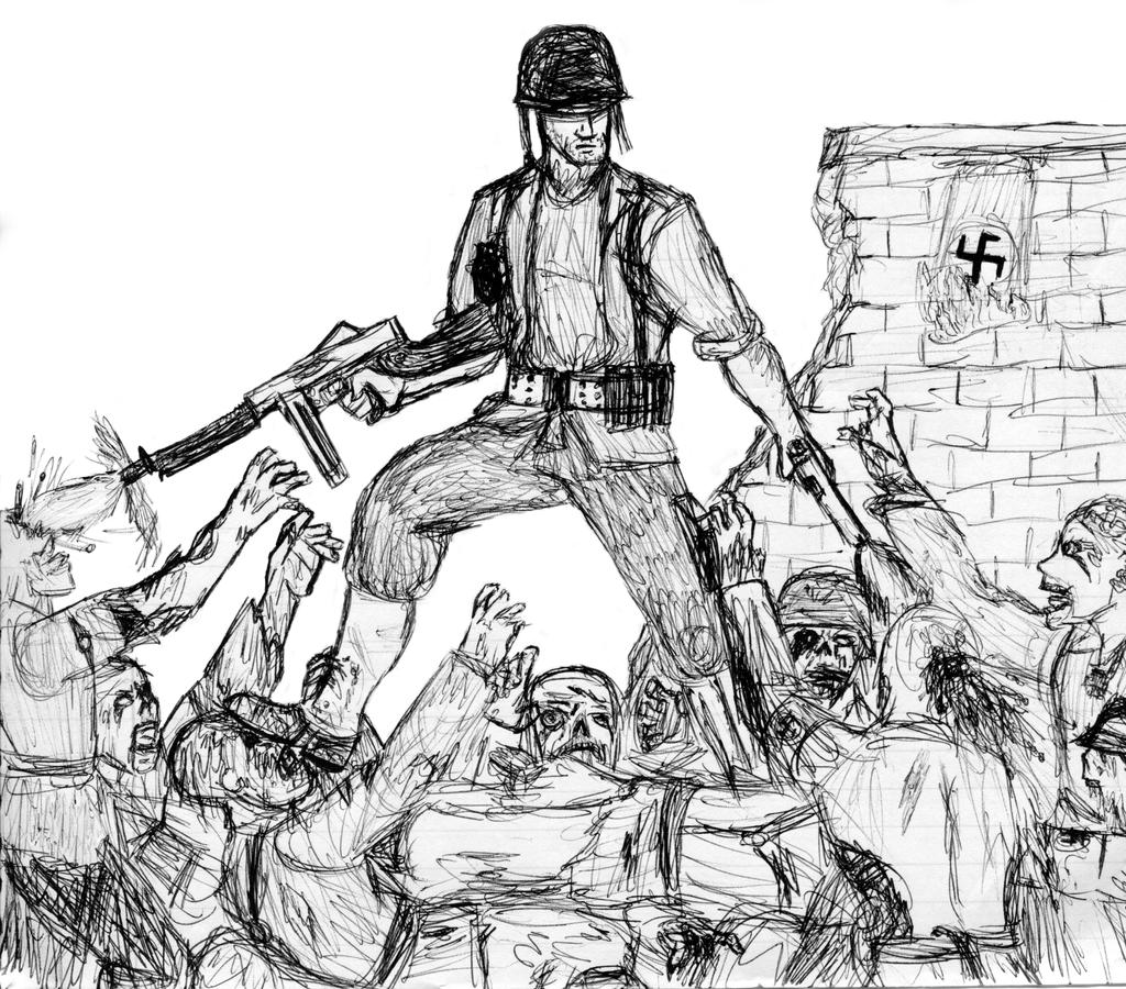 nazi zombies by the1337chef on deviantart - Black Ops Zombies Coloring Pages
