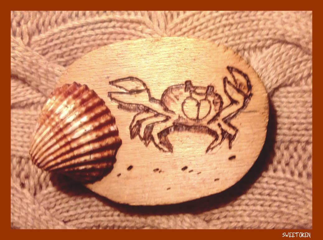 Crab (Pyrography)