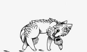 Little Gray Howling Wolf .:Twist Fate Entry:. by NeonMilkshakes