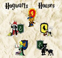Bamse - Hogwarts Houses by Myrling