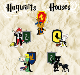 Bamse - Hogwarts Houses