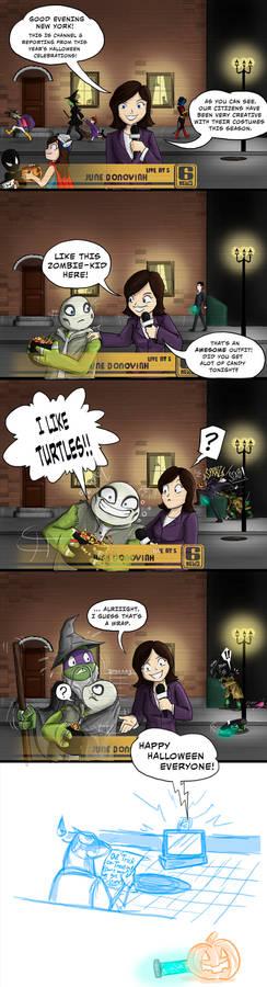 Trick or Turtles - Happy Halloween