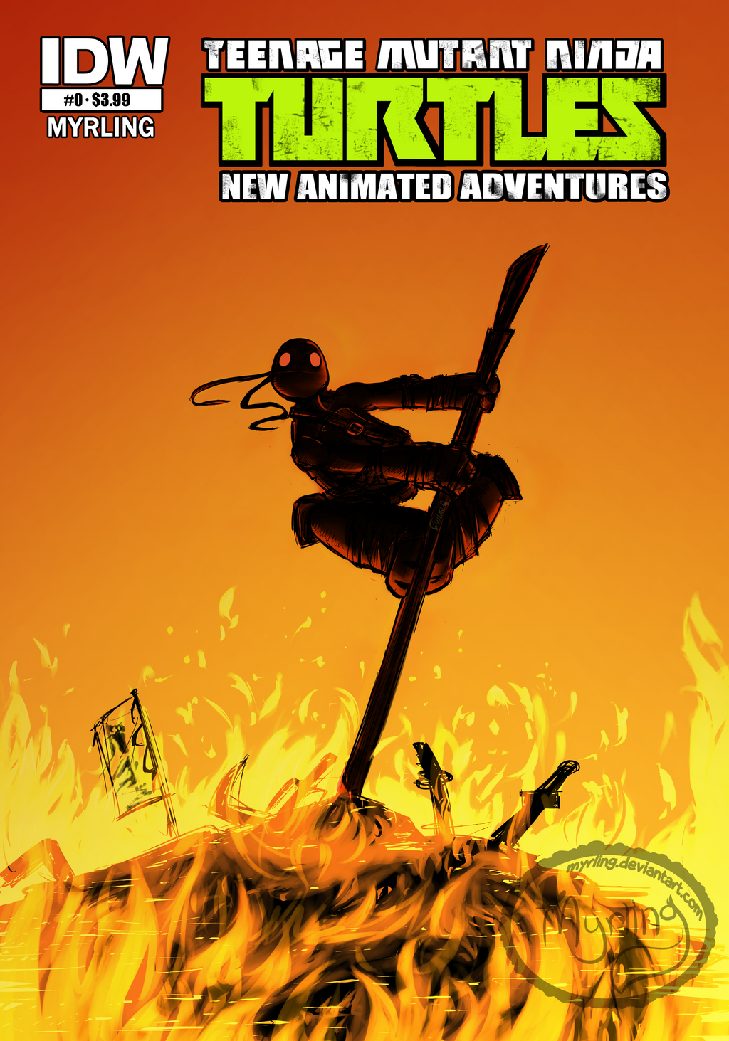 Comic Book Cover Artist Wanted : Tmnt comic book cover art by myrling on deviantart