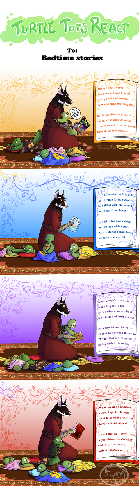 Turtle Tots React - Bedtime stories by Myrling