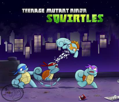 Teenage Mutant Ninja Squirtles by Myrling