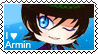 Armin The Hatter chibi stamp (version 2) by Ittichy