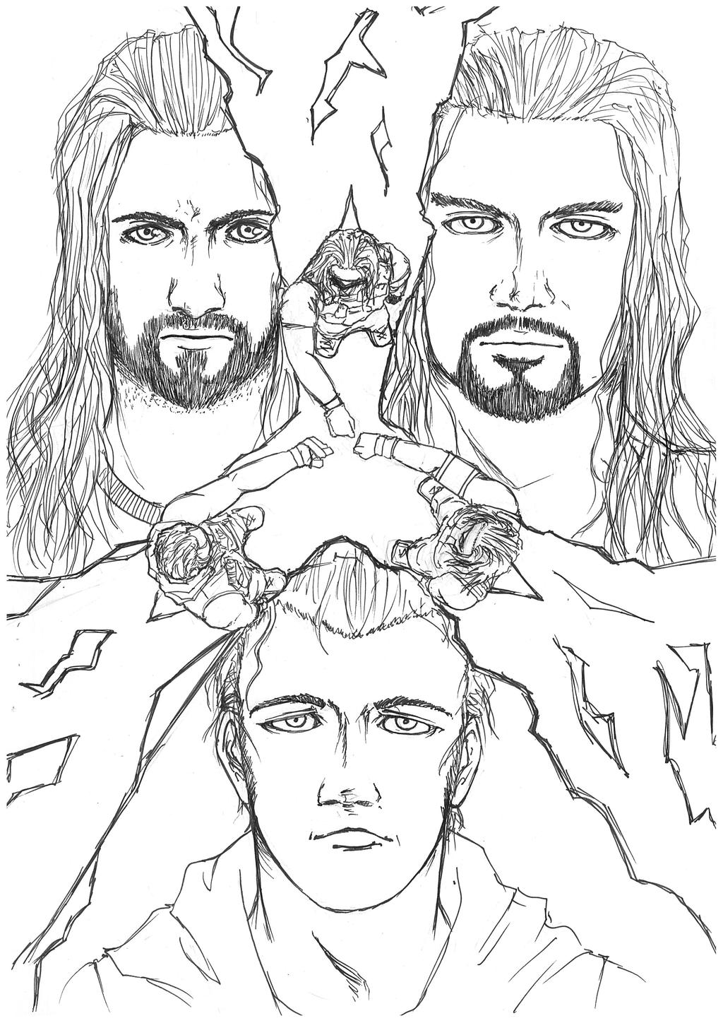 raw wrestling coloring pages - photo#21