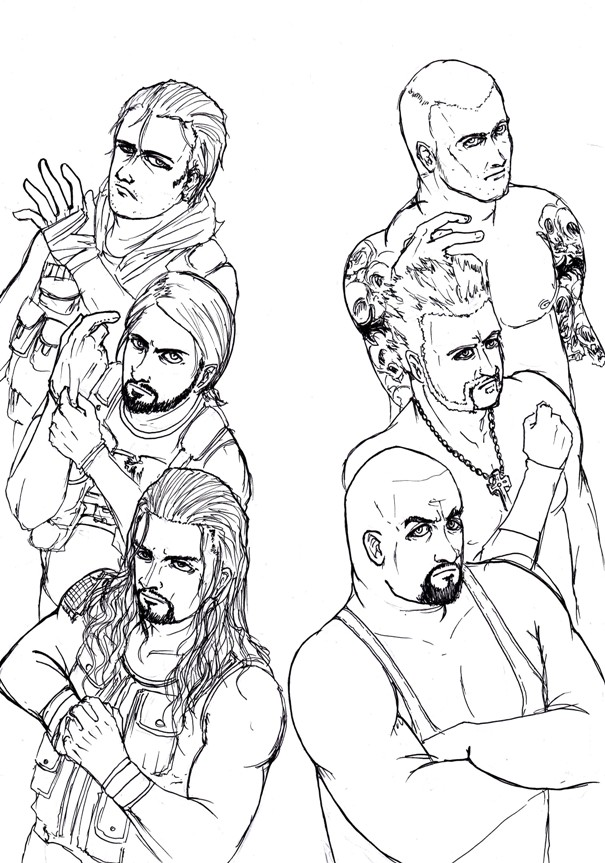 Wwe the shield coloring pages for Wwe raw coloring pages