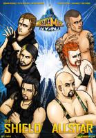 Wrestlemania 29 : The Shield vs WWE Allstar by Tapla