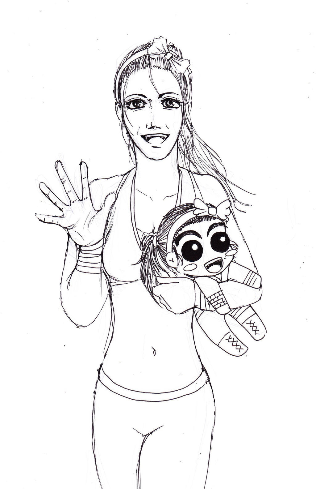 NXT Diva Bayley Uncolor by