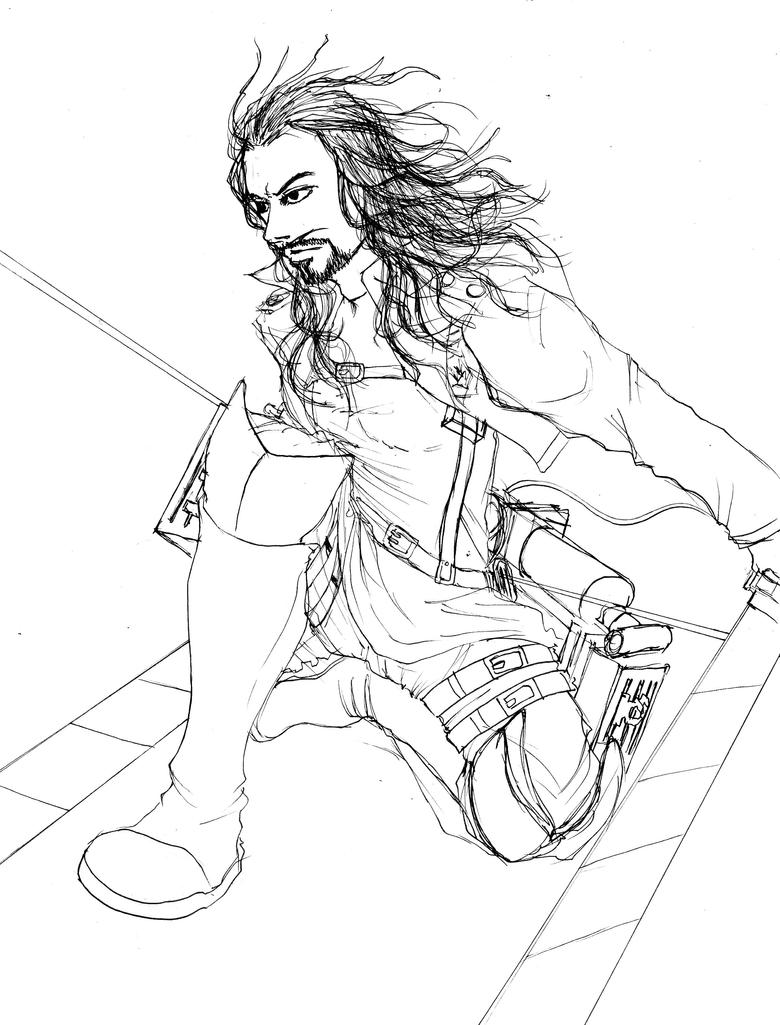 Attack on justice roman reigns uncolor by tapla on for Wwe ring coloring pages