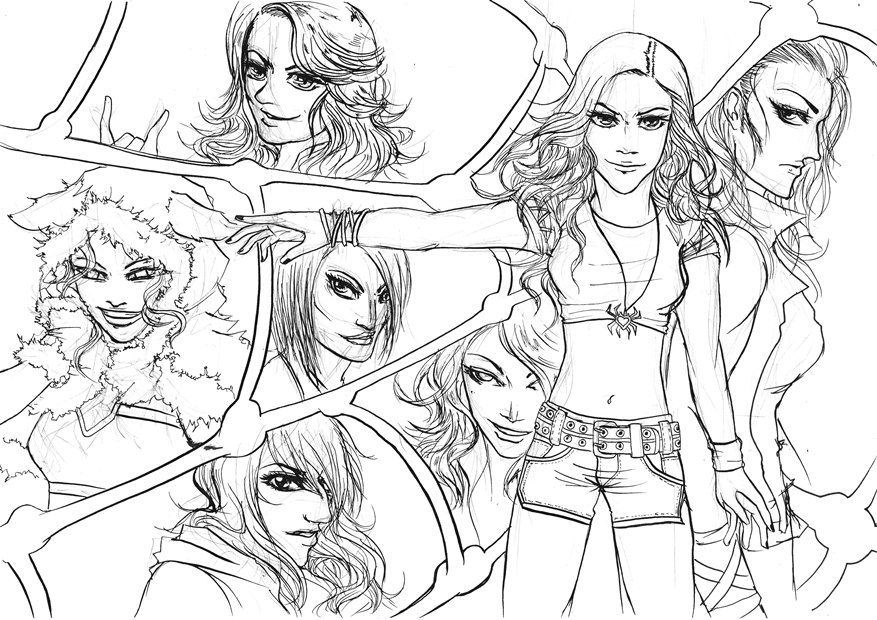 2013 2014 wwe roster true divas uncolor by tapla on for Wwe diva coloring pages