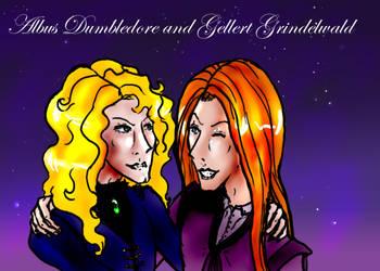 Albus and Gellert by nightmarenikki