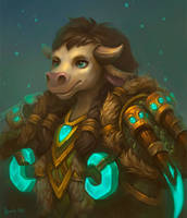 Commission: Tauren, Druid by lowly-owly