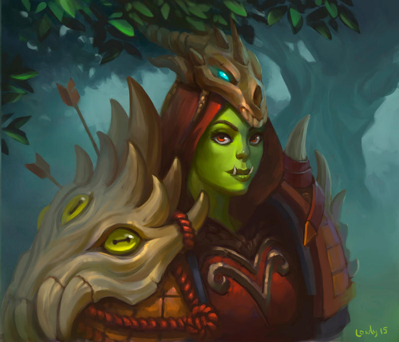Orc Hunter by lowly-owly on DeviantArt