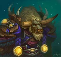 Comm: Tauren Druid by lowly-owly