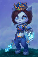 Commission: Chibi Draenei by lowly-owly