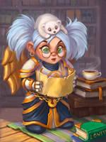 Gnome Priest by lowly-owly