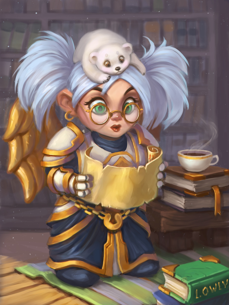 Gnome Priest by lowly-owly