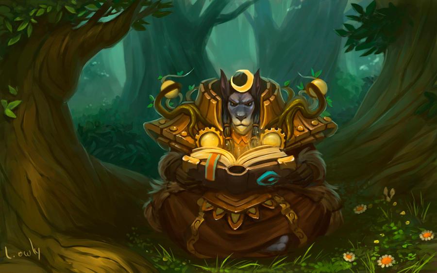 Worgen Druid by lowly-owly